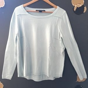French Connection Light Aqua Long Sleeve Sweater